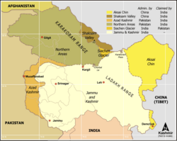 Siachen Area Kashmir Map